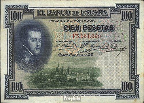 100 Pesetas Banco de España 1925 Felipe II