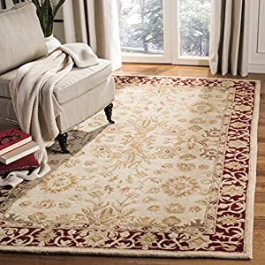 Safavieh Anatolia Collection An551a Handmade Ivory And Red Hand Spun Wool Area Rug 9 Feet By 12 Feet Hot Shop