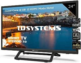 Televisor Led 24 Pulgadas HD Smart, TD Systems K24DLX9HS. Resolución 1366 x 768, 2X HDMI, 2X USB, Smart TV.