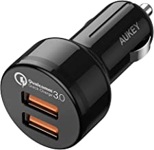 Fast Car Charger, AUKEY 36W Dual Port Quick Charge 3.0 USB Cell Phone Car Adapter for iPhone 12 Pro Max/11 Pro Max/XS/XR, ...