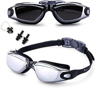 5366ae98ee Gafas de Natación,?Gafas para Nadar , Cristal Anti Niebla, Cómodo Sello  Hermético