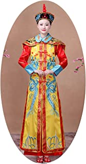 The Qing Dynasty Costume/Queen's dress/Ancient Chinese Cosplay/Emperors Clothing/New Year's dress/Halloween Costume/Campus Party Dress/Bridal gowns/Spring Festival Traditional Clothes-Dragon robe +Hat