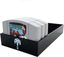 Collector Craft Black Game Organizer Compatible with N64 Cartridge, Dust Cover, Cartridge Holder, Nintendo 64