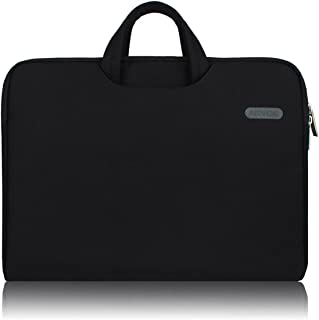 Arvok 15 15.6 Inch Multi-Color & Size Water-Resistant Laptop Sleeve Bag with Handle/Notebook Computer Case/Ultrabook Briefcase Carrying Bag, Black