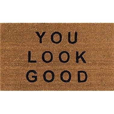 Novogratz Aloha Collection You Look Good Doormat, 1'6  x 2'6 , Natural Brown