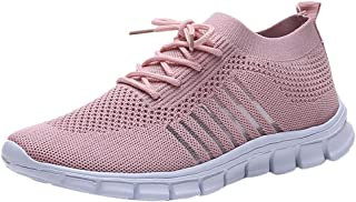 Women Mesh Breathable Sport Sneakers ❀ Ladies Fashion Solid Student Sport Running Shoes Casual Shoes