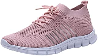 Padaleks Women's Sneakers Lightweight Walking Shoes Casual Comfortable Mesh Breathable Lace up Sport Shoes Girls