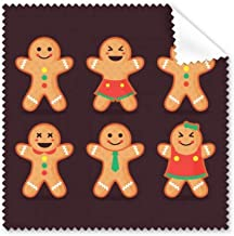 DIYthinker Gingerbread Cookie Men Christmas Glasses Cloth Cleaning Cloth Gift Phone Screen Cleaner 5Pcs
