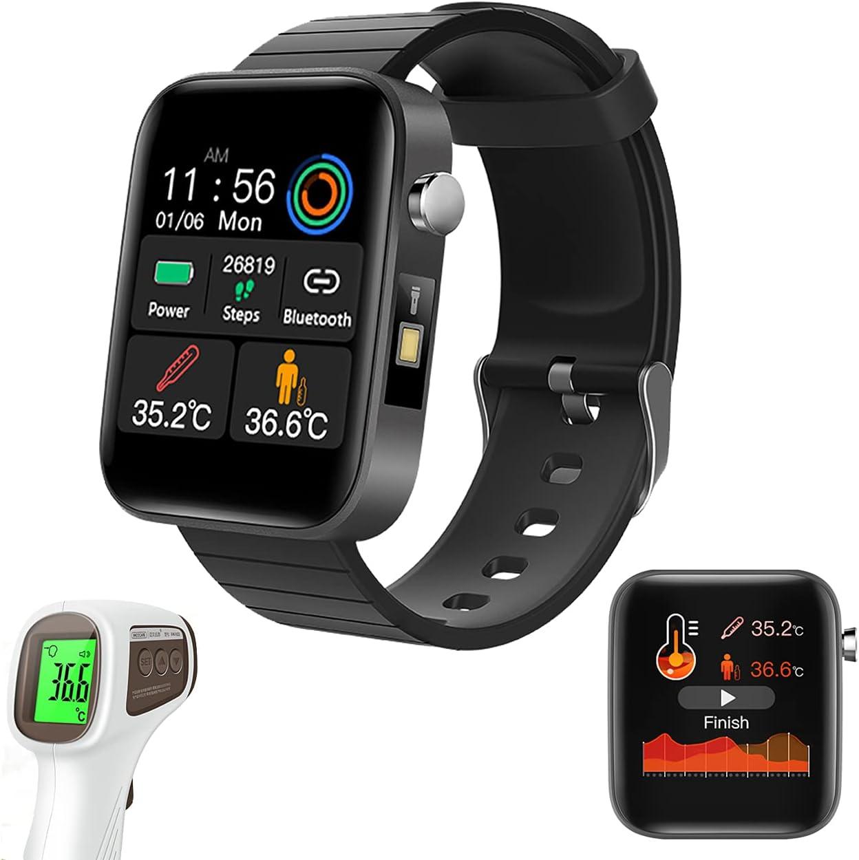 """ANDUBEST Smartwatch, Reloj Inteligente Pantalla HD de 1,54"""" Pulsera de Actividad Inteligente con Monitoreo de temperatura Monitor de Sue?o Contador de Caloría Pulsómetros Podómetro para Android iOS"""