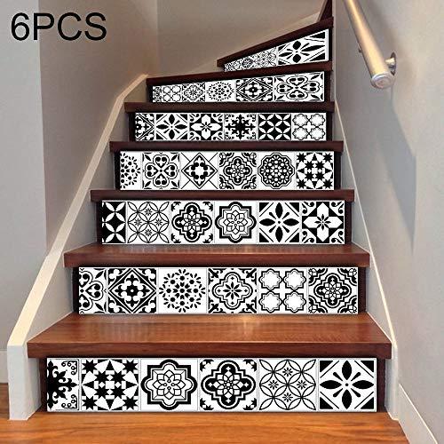POJAP Keramische tegels Trap Sticker DIY Creative Home Decoration, Afmetingen: 18 * 100cm, 6 stuks