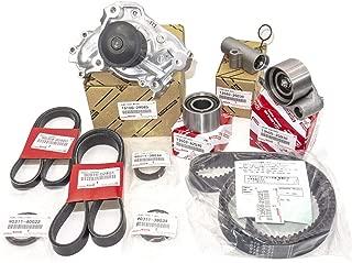 Timing Belt Kit, 10pcs Timing Belt Water Pump Kit Toyota 3MZ-FE V6 3.3L for 2001-2006 Toyota Camry/ 2001-2010 Toyota Highlander/ 2003-2006 Toyota Sienna/ 2003-2008 Toyota Solara