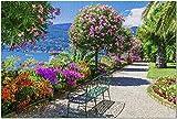 Isla Isola Madre en el Lago Maggiore con jardines florales ornamentales en el norte de Italia Rompecabezas de 1000 piezas para adultos