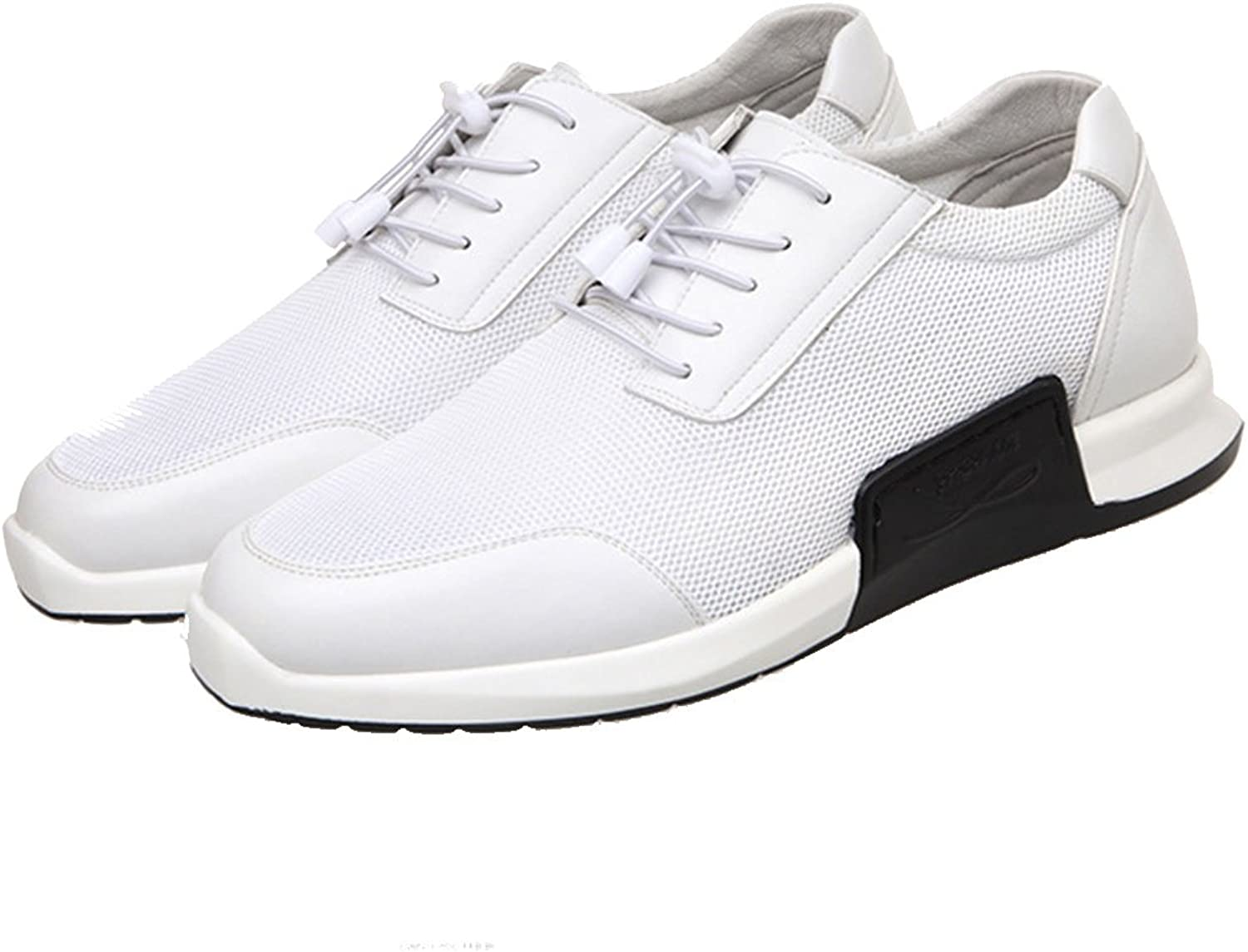 GAOLIXIA Men's Mesh Breathable Sneakers Spring Summer Fashion Sports Casual shoes White Black