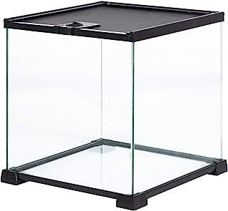 """REPTI ZOO Glass Mini 8 Gallon Reptile Terrarium 12"""" x 12"""" x 12"""", Samll Habitat Cage Breeder Enclosure for Gecko Frog Spide..."""