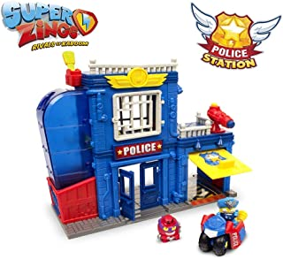 Magic Box MBXPSZPP112IN00 SuperZings Rivals of Kaboom Police Station Playset, Multi-Colour