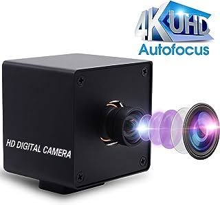 4K Autofocus USB Webcam No Distortion USB Camera CMOS Sony IMX415 Video Surveillance Webcamera for Machine Vision, 3840x2160@ 30fps USB with Camera for 3D Scanner VR Camera,Plug&Play OTG Camera