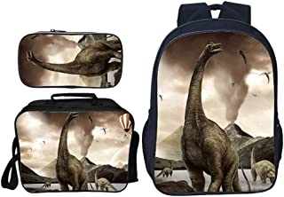 3 in 1 Childrens Rucksack Sets urassic Park Dinosaur Prints 3pcs Primary Schoolbag Shoulder Bag+ Pencil Case for Boy Girls...