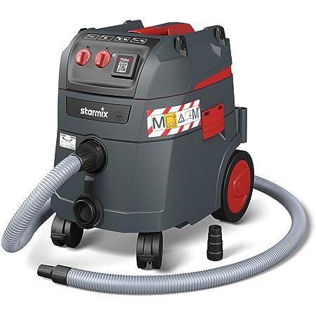 Starmix Aspirateur Eau et poussière iPulse M-1635 Safe - Aspirateur de sécurité de qualité supérieure pour Chantier et Atelier - 1600 W, 35 l