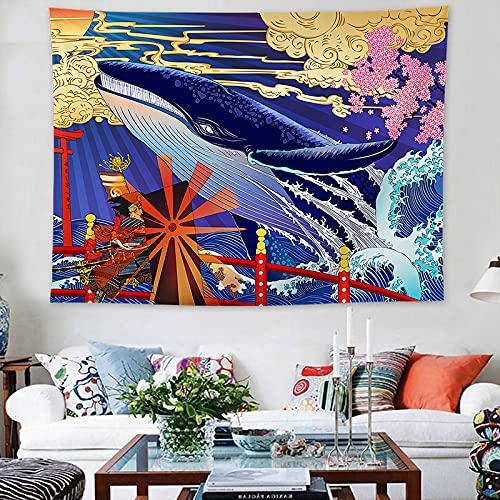 NHhuai Tapiz Decoración Dormitorio o Sala de Estar Tapiz de Sala de Estar Tapiz de Onda Pintura Decorativa