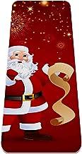 Yoga Mat Antislip TPE vector illustratie van de kerstman Hoge dichtheid vulling om pijnlijke knieën te voorkomen, Perfect ...