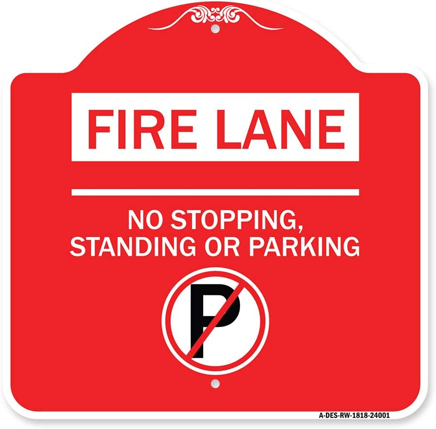 SignMission Designer Series Sign - 2021new shipping free shipping New Free Shipping Stan Fire Lane No Stopping