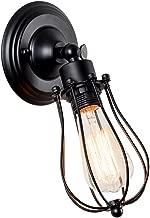 Industrial Wall Light Adjustable Vintage Wall Sconce Retro Indoor Wall Lighting Fixture(Single Lamp Base, Black)