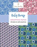 Vera Bradley Baby Bump Wrapping Paper: 20 Sheets to Craft, Wrap & Love (Design Originals) 18-inch by 24-inch Patterns Perfect for Baby Shower Gifts, plus 20 Ready-to-Color Gift Cards & Wrapping Tips