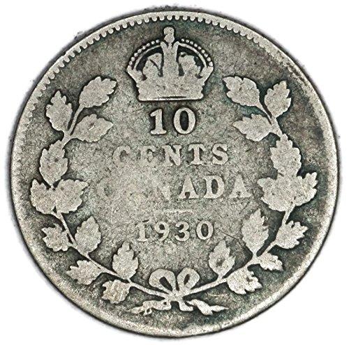 1930 CA George V Canadian Silver Dime KM# 23a 10 Cent FAIR