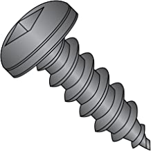 "Steel Sheet Metal Screw, Black Oxide Finish, Pan Head, Square Drive, Type A, 8-15 Thread Size, 1/2"" Length (Pack of 100)"