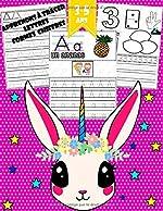 Apprenons à tracer - Lettres, chiffres, formes: Cahier d'activités pour enfants pour enfants âgés de 3 à 5 ans / (Licorne) de Famille intelligente