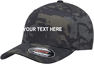 Basics Clothing Store Flexfit Blank Custom Name Embroidered 6277 Cotton Blend Fitted Hat Baseball Cap