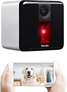 [2017 Item] Petcube Play Smart Pet Camera with Interactive Laser Toy. Remote Dog/Cat Monitoring with HD 1080p Video, Two-Way Audio, Night Vision, Sound/Motion Alerts. App-enabled Pet and Home Safety