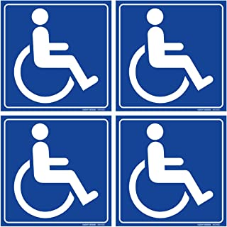 (Set of 4) Handicap / Disabled Wheelchair Accessible Sign | 6