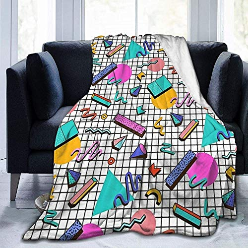 Good at Naps - Manta ligera ultra suave, 80s Eighties Memphis Pattern Design-50'x40'