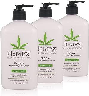 Hempz Original Herbal Body Moisturizer, 17 oz, Pack of 3