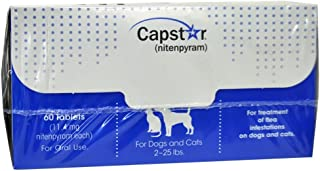 CAPSTAR Blue FAST ACTING for Dogs Cats 2-25 lbs. (60 Tabs)