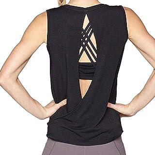 comprar comparacion Luckycat Camisetas Mujer Deporte sin Mangas para Yoga Fitness y Deportes Camiseta de Fitness Deportiva de Tirantes para Mujer