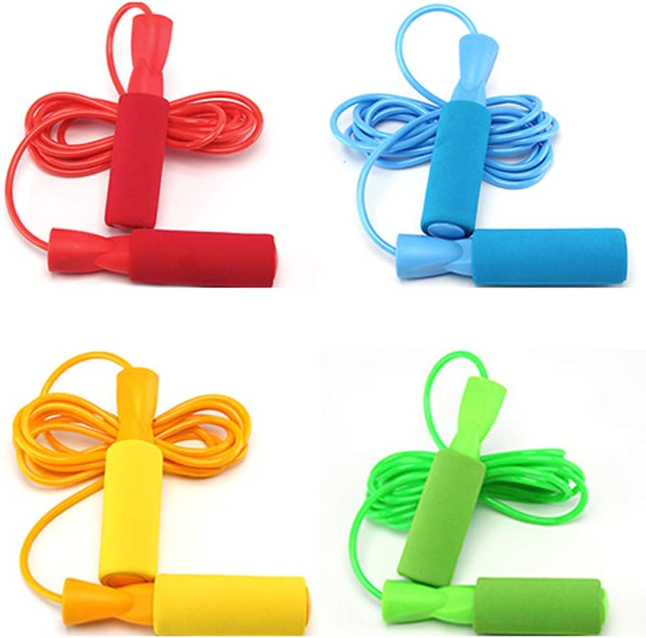 aoory 4 Pcs Skipping Max 66% OFF Rope with Students for Sponge Traini shopping Handle
