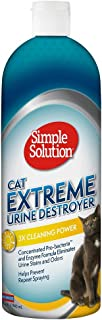 Simple Solution Cat Urine Destroyer | Cat Stain and Odor Remover | Breaks Down Cat Urine to Neutralize Stain and Odor | Prevents Repeat Marking | 32 Ounces