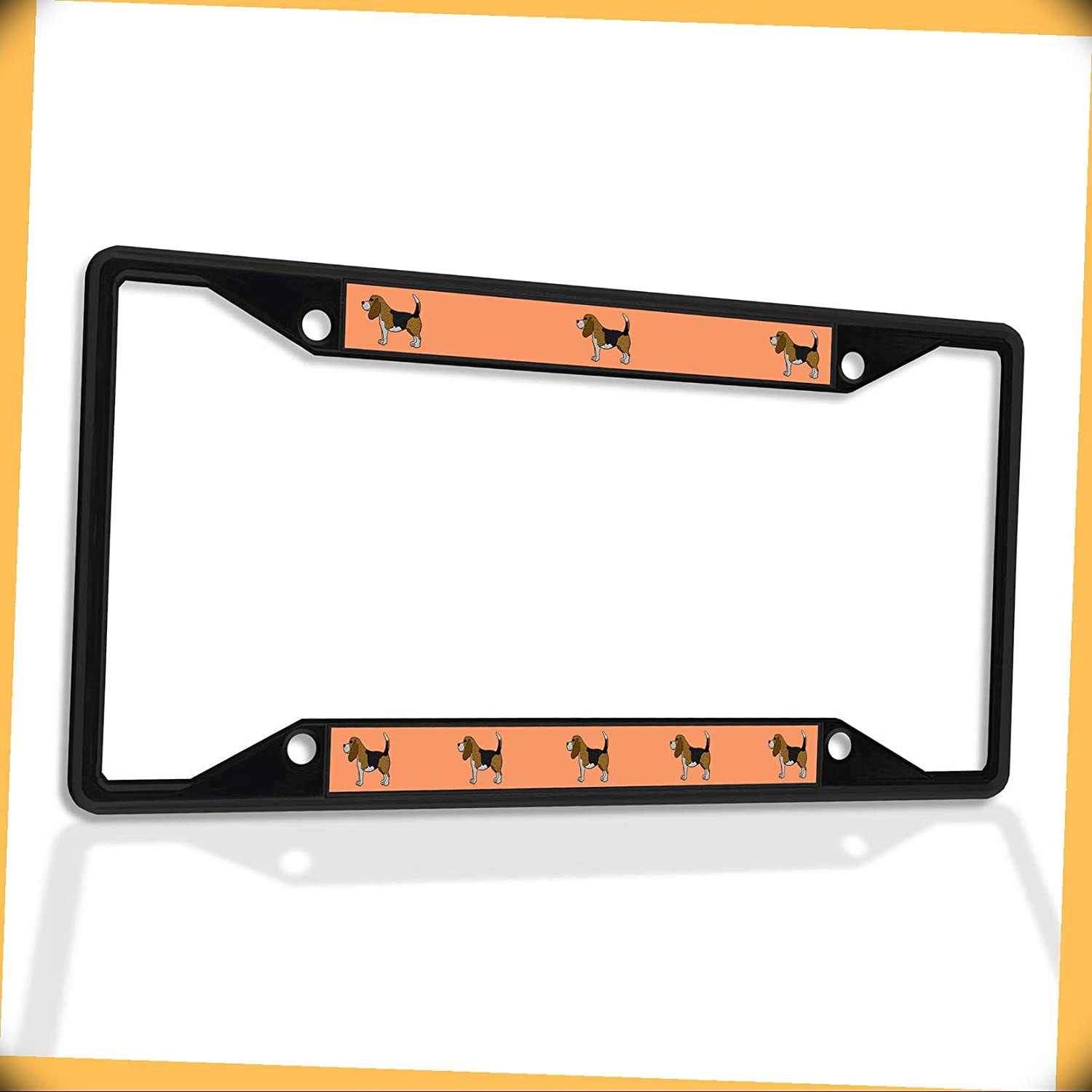 New Metal Aluminum Alloy Max 63% OFF Black Free shipping on posting reviews B4K Plate Insert Be Frame License