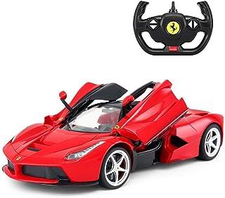أفضل هدية مبتدئ من السهل التلاعب بجهاز التحكم عن بعد سباق سيارة bkid أربعة عجلات إنجراف نموذج سيارة رياضية (اللون: أحمر) (...