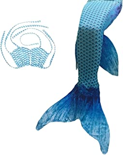 Mermaid Tail Costume Swimsuit For Girls Swimming Women Party Dress