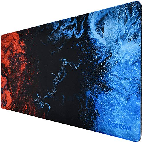 Gaming Mouse Pad, veecom Large Mouse Pad XL, Big Mouse Pad for Computer Gamer, Thick Gaming Mousepad Large 31.5×15.75In, Extended Keyboard Mouse Pads for Desk, Non Slip Mouse Mat (Blue)