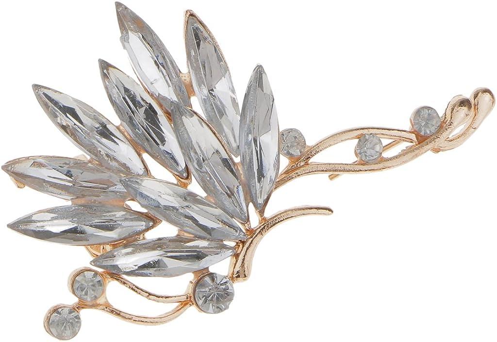 Harilla Fashion Women Rhinestone Crystal Left Ear Cuff Clip On Earring