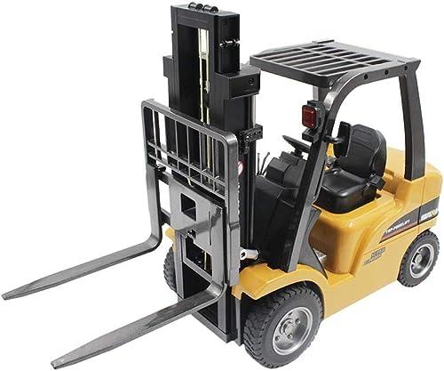 1 10 RC Fernbedienung Gabelstapler, 8 Kanal Full Functional Professional RC Gabelstapler, Legierungsmaterial, ladendes Spielzeugauto, Elektrisches Spielzeug für Kinder