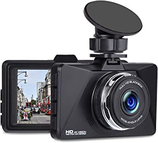 Dash Cam, 3 LCD Screen 1080P Car DVR Dashboard Camera Full HD with 170°Wide Angle, WDR, G-Sensor, Loop Recording and Motion Detection