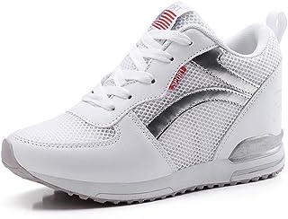 98e45817db818 LFEU Chaussure Femme Basket Mode Compensé, Montante à l'intérieur 3.5 CM,  Sneakers