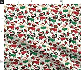 Spoonflower Fabric - Christmas Cute...