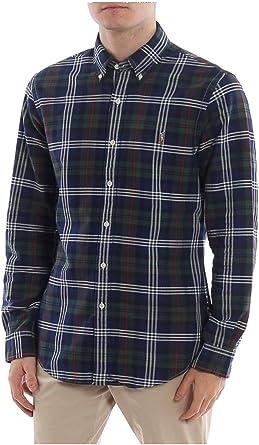 Camisa Ralph Lauren Oxford Custom Fit Cuadros Marino Hombre