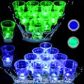 Glow in The Dark Beer Pong Set-Light Up Beer Pong Cups for Indoor Outdoor Competitive Fun, 22 Glowing Cups(11 Green &11 Blue), 6 LED Pongs(3 Green&3 Blue)- Waterproof, Large Capacity Battery from unbrands